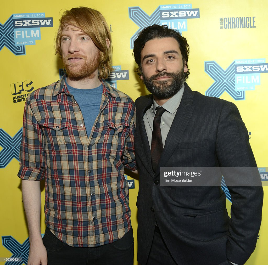 Domhnall Gleeson (L) and Oscar Isaac attend the SXSW 'Ex Machina' Premiere at the Paramount Theatre on March 15, 2015 in Austin, Texas.