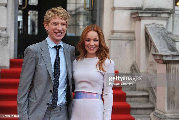 Domhnall Gleeson and Rachel McAdams attend the World Premiere of 'About Time' at Somerset House on August 8 2013 in London England