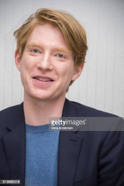Domhnall Gleeson at the 'Peter Rabbit' Press Conference at the Four Seasons Hotel on February 2 2018 in West Hollywood California