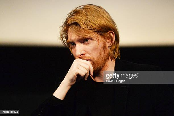 Domhnall Gleeson attends a BAFTA Q&A of 'The Revenant' at Vue Leicester Square on December 6, 2015 in London, England.