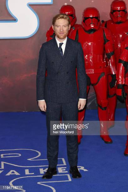 "Domhnall Gleeson attends ""Star Wars: The Rise of Skywalker"" European Premiere at Cineworld Leicester Square on December 18, 2019 in London, England."