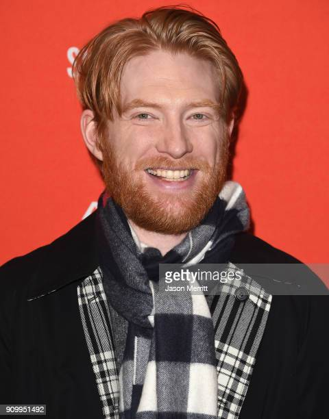 "Domhnall Gleeson attends the ""A Futile And Stupid Gesture"" Premiere during the 2018 Sundance Film Festival at Eccles Center Theatre on January 24,..."