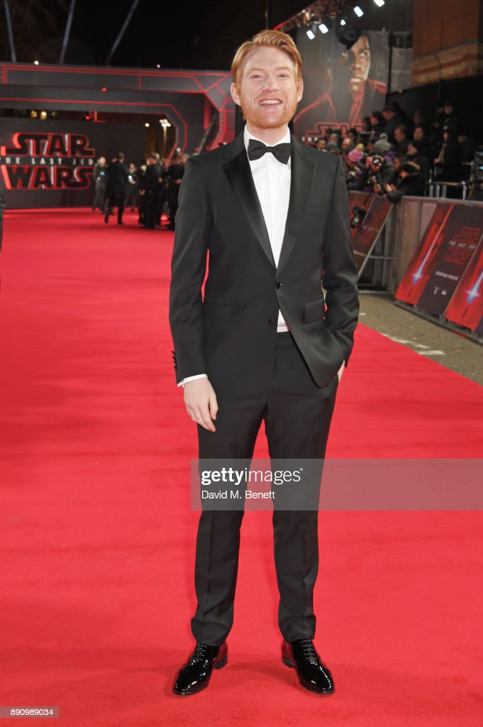 Domhnall Gleeson attends the European Premiere of 'Star Wars: The Last Jedi' at the Royal Albert Hall on December 12, 2017 in London, England.