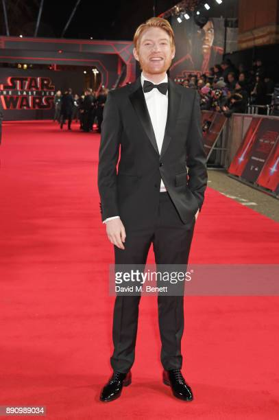 Domhnall Gleeson attends the European Premiere of 'Star Wars The Last Jedi' at the Royal Albert Hall on December 12 2017 in London England