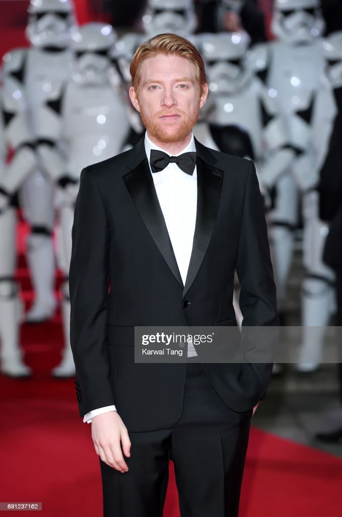Domhnall Gleeson attends the European Premiere of 'Star Wars: The Last Jedi' at Royal Albert Hall on December 12, 2017 in London, England.