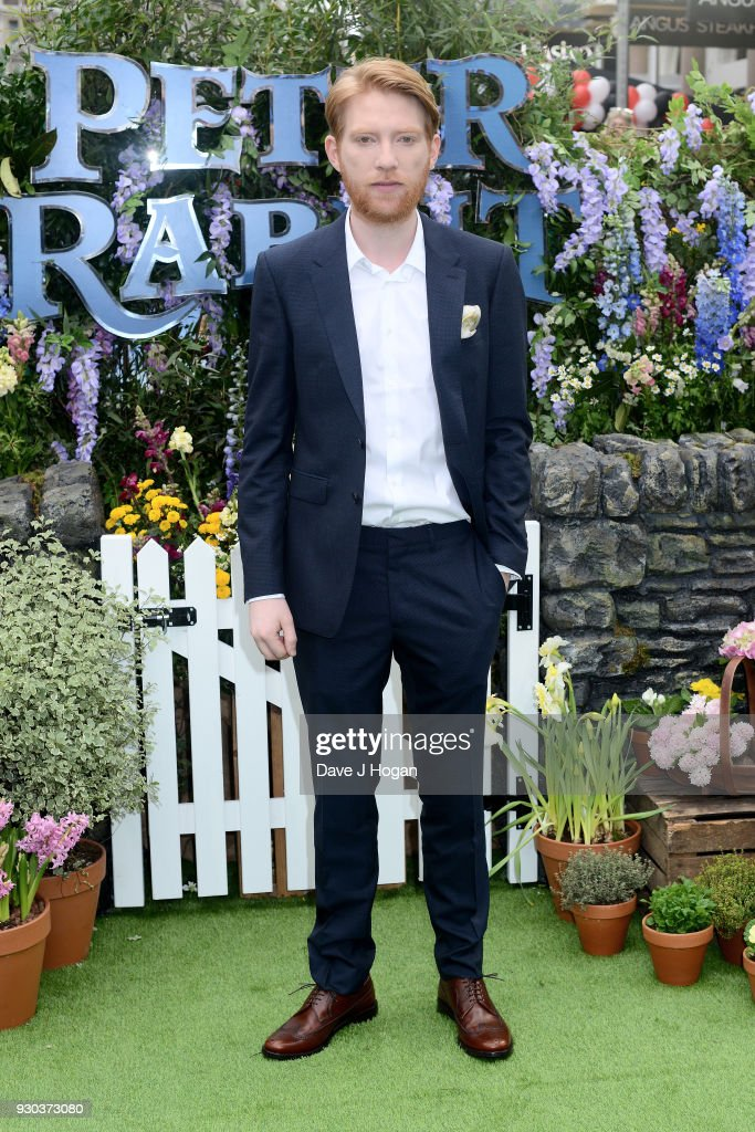 Domhnall Gleeson attends the Peter Rabbit Gala Premiere at Vue West End on March 11, 2018 in London, England.