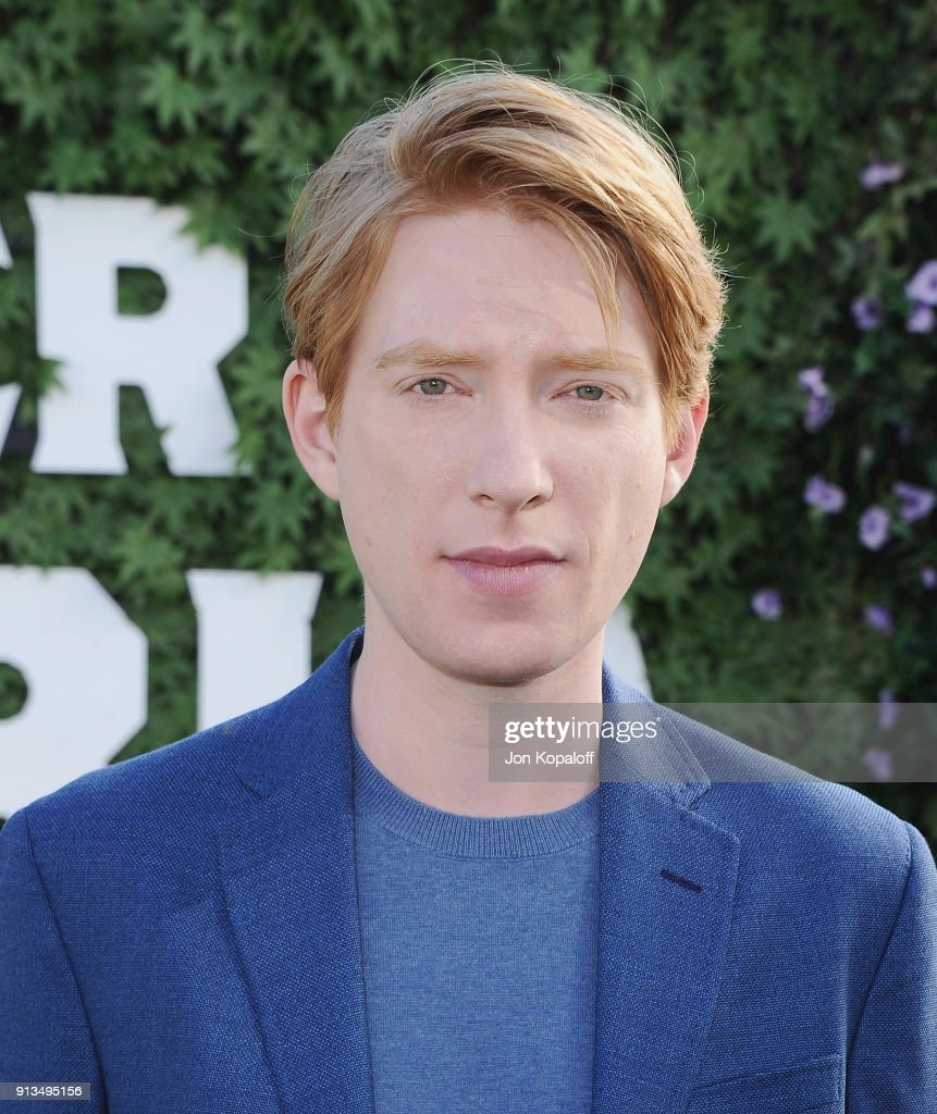 Domhnall Gleeson attends the photo call for Columbia Pictures' 'Peter Rabbit' at The London Hotel on February 2, 2018 in West Hollywood, California.