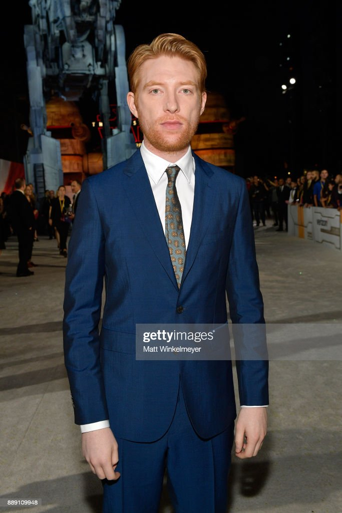 Domhnall Gleeson attends the premiere of Disney Pictures and Lucasfilm's 'Star Wars: The Last Jedi' at The Shrine Auditorium on December 9, 2017 in Los Angeles, California.