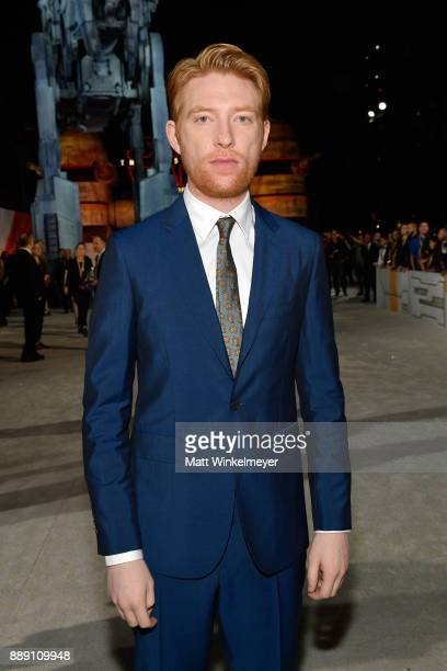 Domhnall Gleeson attends the premiere of Disney Pictures and Lucasfilm's 'Star Wars The Last Jedi' at The Shrine Auditorium on December 9 2017 in Los...
