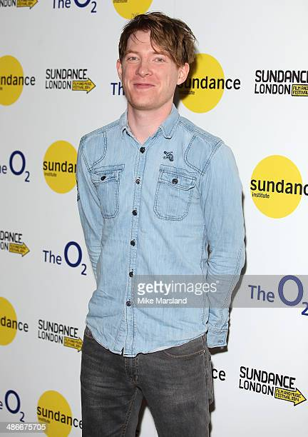 Domhnall Gleeson attends the premiere of 'Frank' at Sundance London at Cineworld 02 Arena on April 25 2014 in London England
