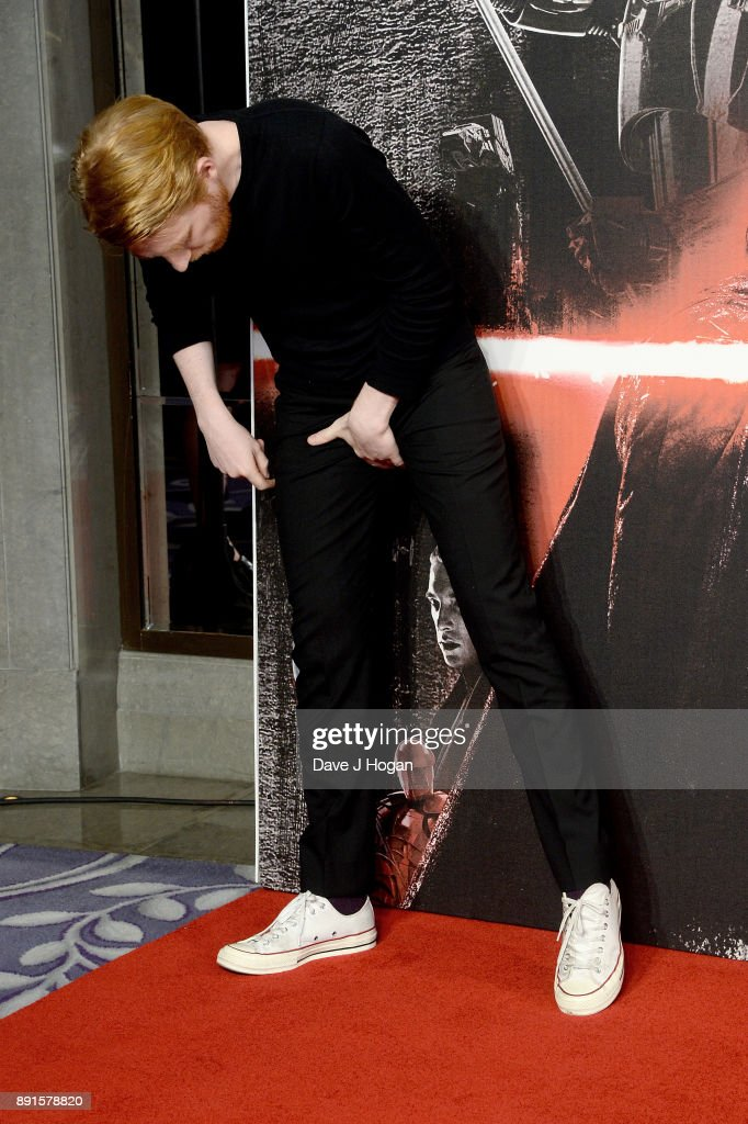 Domhnall Gleeson attends the 'Star Wars: The Last Jedi' photocall at Corinthia Hotel London on December 13, 2017 in London, England.