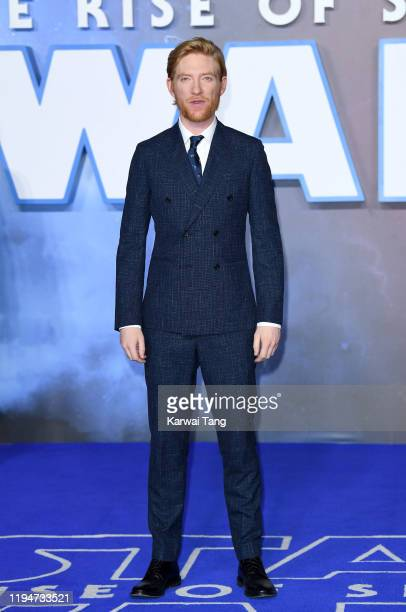 "Domhnall Gleeson attends the ""Star Wars: The Rise of Skywalker"" European Premiere at Cineworld Leicester Square on December 18, 2019 in London,..."