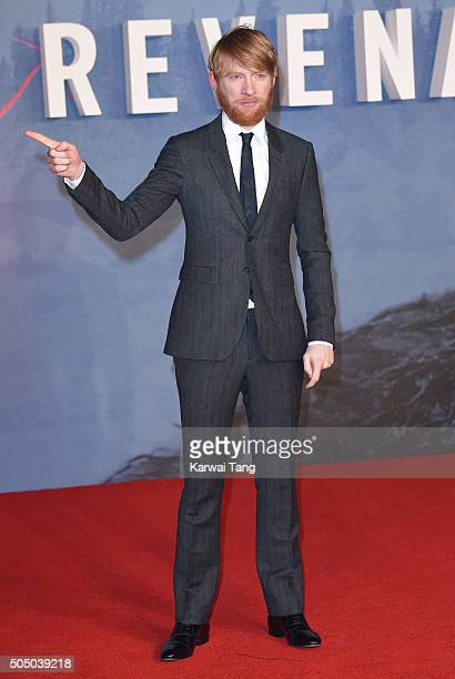 "Domhnall Gleeson attends UK Premiere of ""The Revenant"" at Empire Leicester Square on January 14, 2016 in London, England."