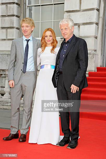 Domhnall Gleeson Rachel McAdams and director Richard Curtis attend the World Premiere of 'About Time' at Somerset House on August 8 2013 in London...