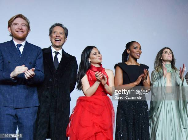 "Domhnall Gleeson, Richard E. Grant, Kelly Marie Tran, Naomi Ackie and Keri Russell attend the European premiere of ""Star Wars: The Rise of Skywalker""..."