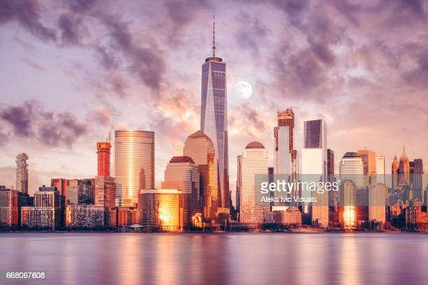 dominating the skyline - new york skyline stock photos and pictures
