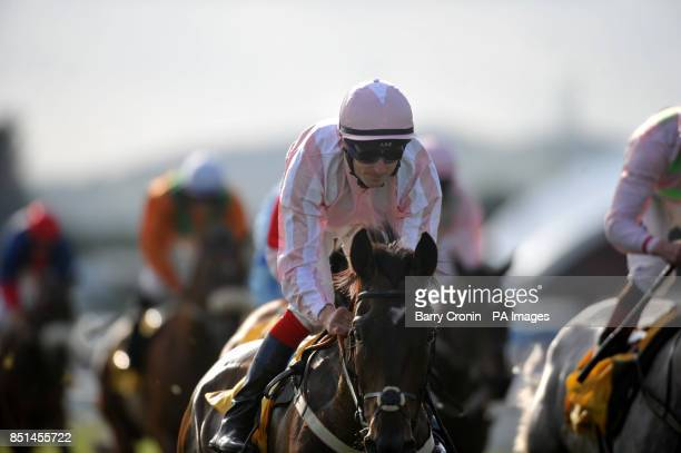 Domination ridden by Fran Berry win The Dubai Duty Free Tennis Championship European Breeders Fund Handicap at the Dubai Duty Free Irish Derby Day at...