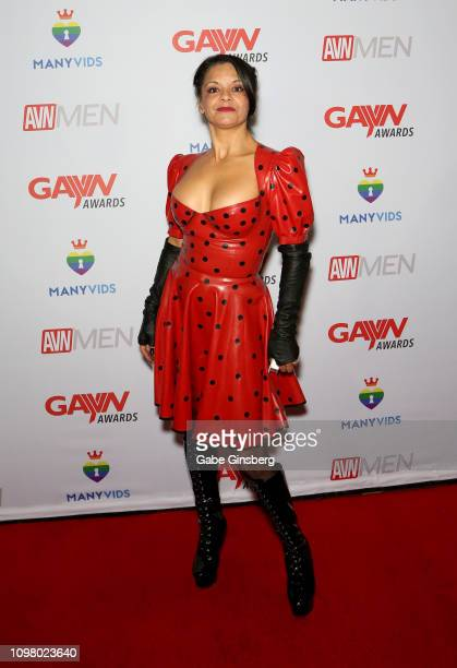 Dominatrix Lady Remedy Ann attends the 2019 GayVN Awards show at The Joint inside the Hard Rock Hotel Casino on January 21 2019 in Las Vegas Nevada