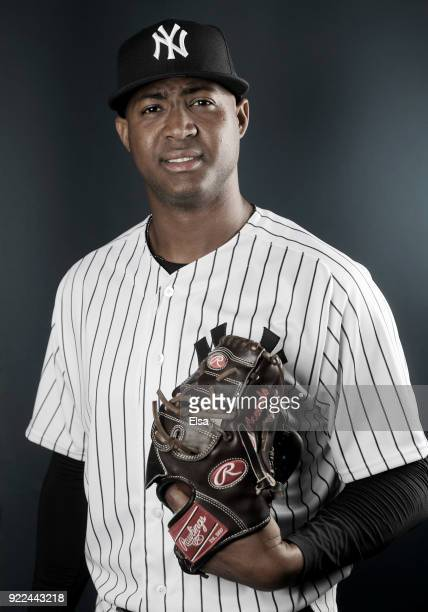 Domingo Acevedo of the New York Yankees poses for a portrait during the New York Yankees photo day on February 21 2018 at George M Steinbrenner Field...