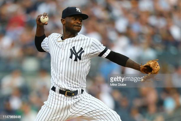 Domingo German of the New York Yankees in action against the Boston Red Sox at Yankee Stadium on June 01 2019 in New York City New York Yankees...