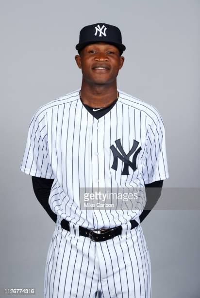 Domingo German of the New York Yankees poses during Photo Day on Thursday February 21 2019 at George M Steinbrenner Field in Tampa Florida