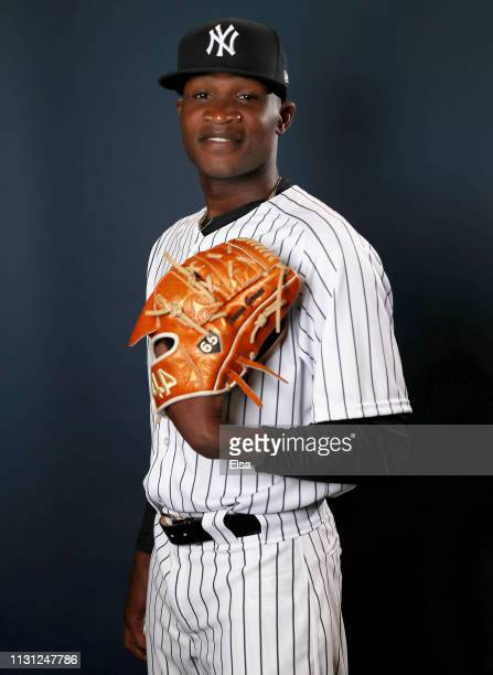 Domingo German of the New York Yankees poses for a portrait during the New York Yankees Photo Day on February 21 2019 at George M Steinbrenner Field...