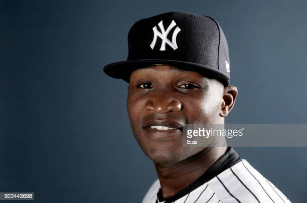 Domingo German of the New York Yankees poses for a portrait during the New York Yankees photo day on February 21 2018 at George M Steinbrenner Field...