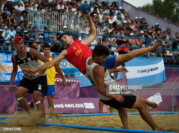 Domingo Luis of Spain shoots on target during day 7 of Buenos Aires 2018 Youth Olympic Games at Green Park on October 13 2018 in Buenos Aires...