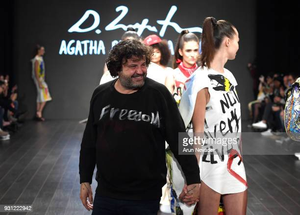 Domingo Zapatawalks the runway at Los Angeles Fashion Week Powered by Art Hearts Fashion LAFW FW/18 10th Season Anniversary at The MacArthur on March...