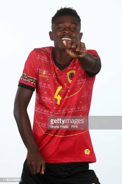 Domingos poses during the U17 Angola team presentation⁄ on October 23 2019 in Brasilia Brazil