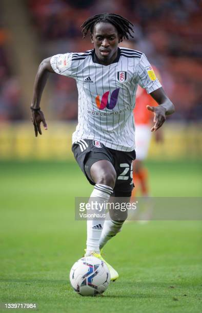 Domingos Quina of Fulham during the Sky Bet Championship match between Blackpool and Fulham at Bloomfield Road on September 11, 2021 in Blackpool,...