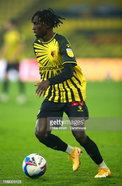 Domingos Quina of Watford FC during the Sky Bet Championship match between Watford and Preston North End at Vicarage Road on November 28, 2020 in...