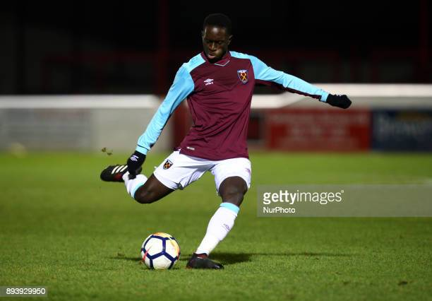 Domingos Quina of West Ham United during FA Youth Cup 3rd Round match between West Ham United Under 18s and Blackpool Under 18s at Dagenham and...