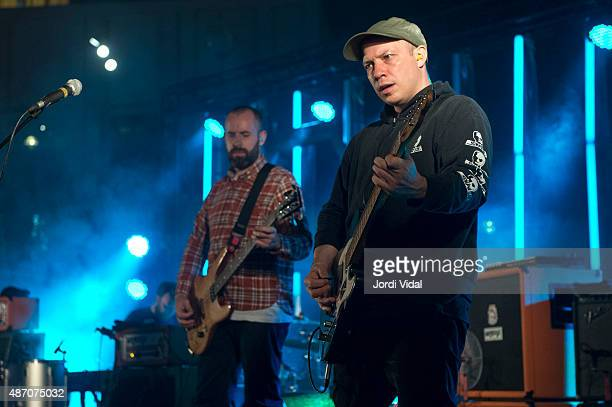 Dominic Aitchinson and Stuart Braithwaite of Mogwai perform on stage during the second day of Tibidabo Live Festival at Parc del Tibidabo on...