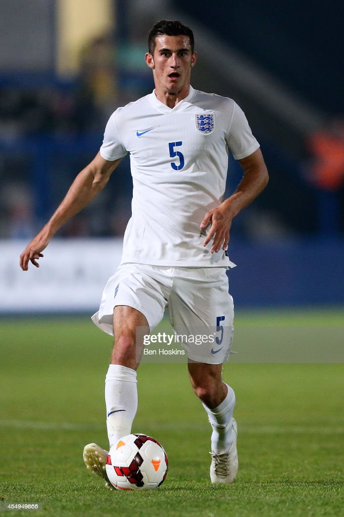 Dominic Ball of England in action during the U20 International friendly match between England and Romania on September 5, 2014 in Telford, England.