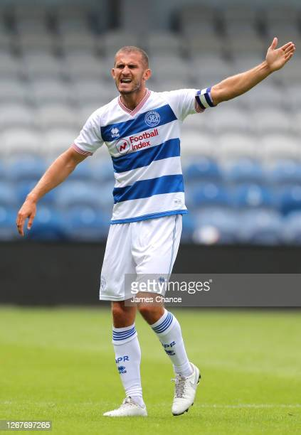 Dominic Ball of Queens Park Rangers gives his team instructions during the PreSeason Friendly between Queens Park Rangers and AFC Wimbledon at The...