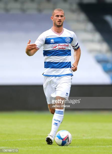 Dominic Ball of Queens Park Rangers runs with the ball during the PreSeason Friendly between Queens Park Rangers and AFC Wimbledon at The Kiyan...