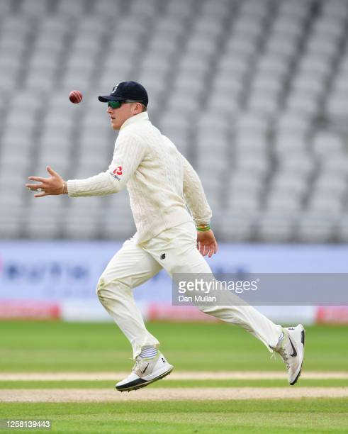 Dominic Bess of England controls the ball in the field during Day Two of the Ruth Strauss Foundation Test the Third Test in the #RaiseTheBat Series...