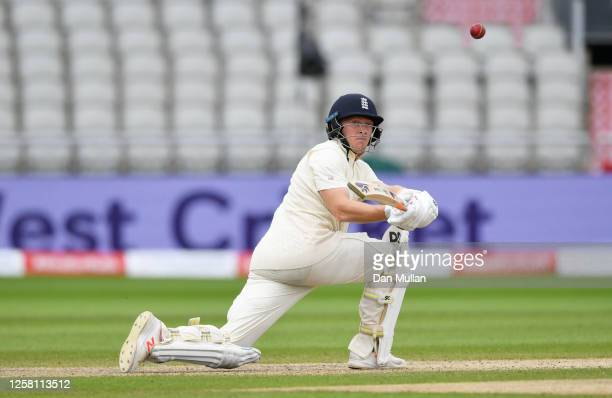 Dominic Bess of England plays a reverse sweep shot during Day Two of the Ruth Strauss Foundation Test the Third Test in the #RaiseTheBat Series match...