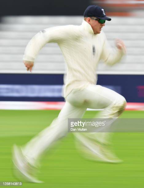Dominic Bess of England runs after the ball during Day Two of the Ruth Strauss Foundation Test the Third Test in the #RaiseTheBat Series match...