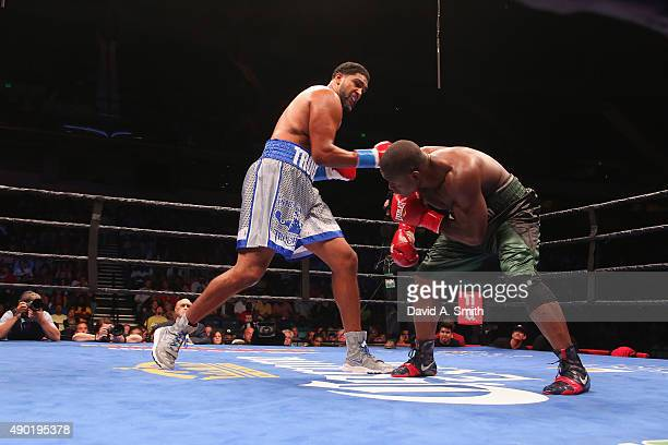 Dominic Breazeale and Fred Kassi fight at Legacy Arena at the BJCC on September 26 2015 in Birmingham Alabama
