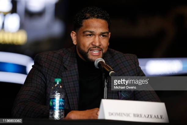 Dominic Breazeale during a press conference at Barclays Center on March 19 2019 in the Brooklyn borough of New York City