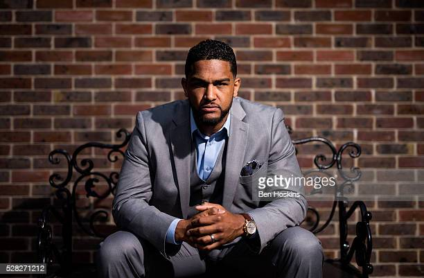 Dominic Breazeale poses for a picture during the Anthony Joshua and Dominic Breazeale Press Conference on May 4 2016 in London England