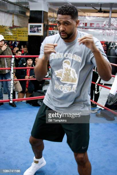 Dominic Breazeale works out during the MEDIA WORKOUTS at Gleason's Gym on December 19 2018 in Brooklyn New York