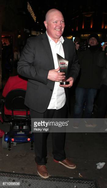 Dominic Brunt attends the Inside Soap Awards held at The Hippodrome on November 6 2017 in London England