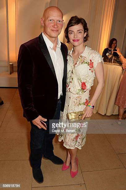 Dominic Burns and Camilla Rutherford attend the launch of British fashion brand Sienna Jones' debut collection 'The Marina Range' at The Orangery,...