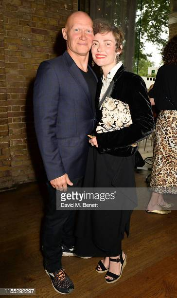 "Dominic Burns Camilla Rutherford at Tanqueray No Ten preview party for the launch of ""Beyond the Road"" at the Saatchi Gallery on June 11 2019 in..."