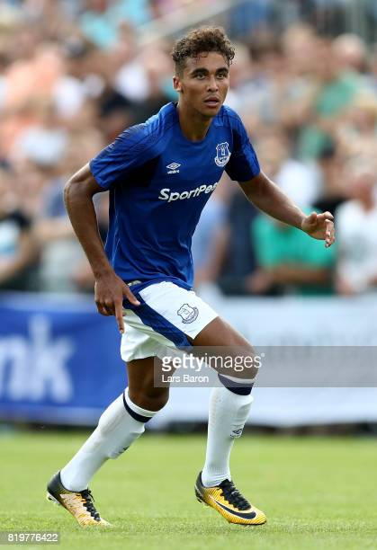 Dominic Calvert Lewin of Everton runs with the ball during a preseason friendly match between FC Twente and Everton FC at Sportpark de Stockakker on...
