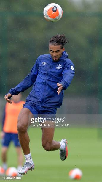 Dominic Calvert-Lewin during the Everton Training Session at Finch Farm on June 18 2020 in Halewood, England.