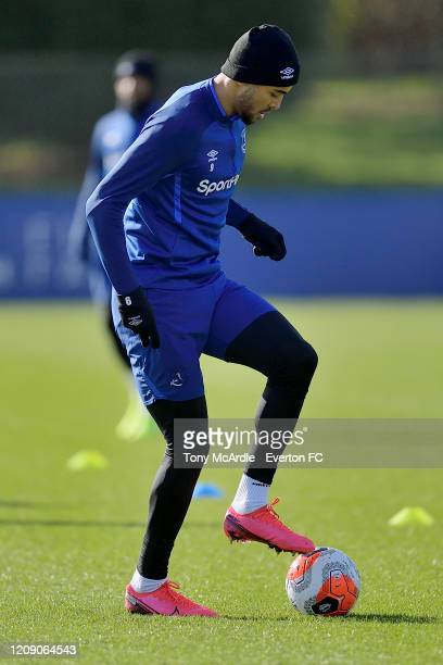 Dominic Calvert-Lewin during the Everton training session at USM Finch Farm on February 26 2020 in Halewood, England.